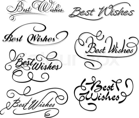 Wedding Wishes Drawing by Best Wishes Calligraphic Elements Stock Vector Colourbox