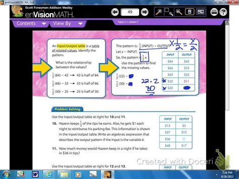 describing a pattern in math math lesson 2 7 using expressions to describe patterns