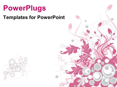 floral powerpoint templates powerpoint template a pretty pink colored floral design