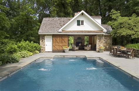 Home Design Ideas With Pool by Pool House