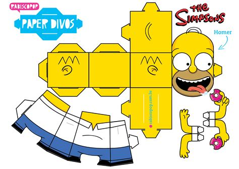 Paper Craft Toys - homer en papertoy homer paper toys and
