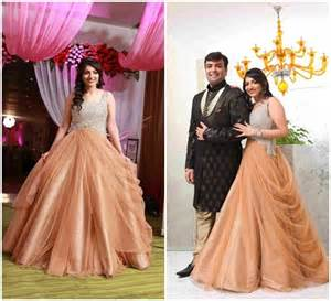 indo western gown for reception engagement dresses