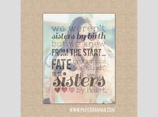 Sisters by heart Best Friend Birthday Gift Best Friend Gift by