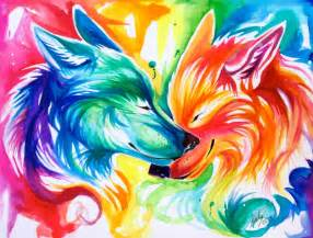 nuzzling wolves by lucky978 on deviantart