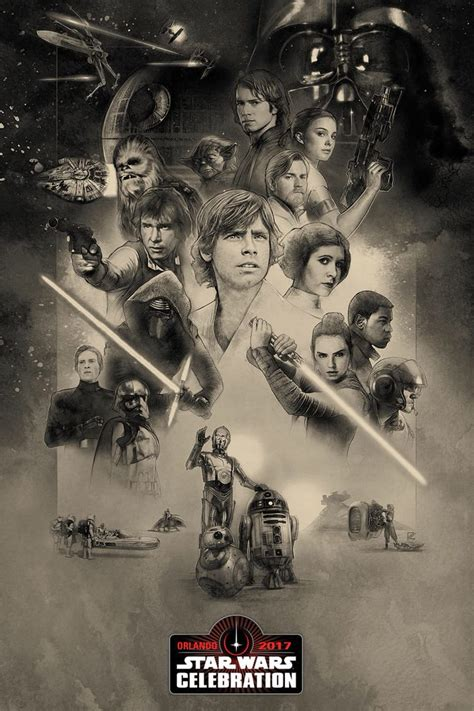 star wars anniversary awesome star wars celebration poster brings 3 generations