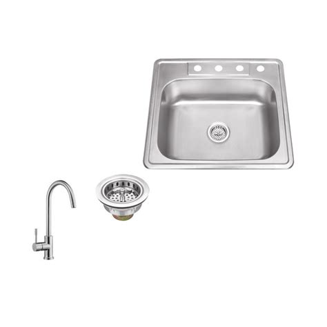 brushed steel kitchen sink ipt sink company drop in 25 in 4 hole stainless steel