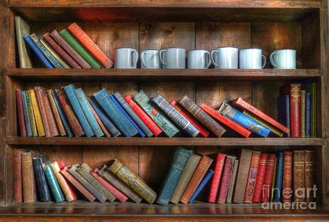 tyneham school bookcase photograph by david birchall