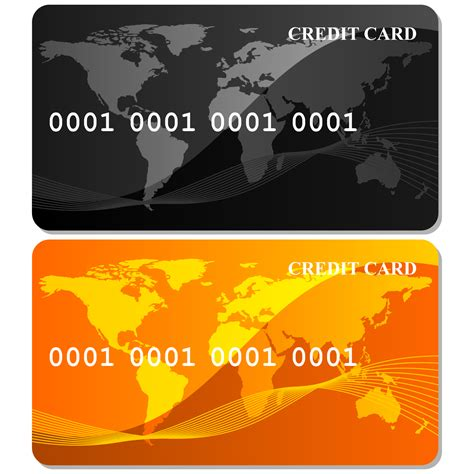 Credit Card Template Corel Vector For Free Use Gold Credit Card