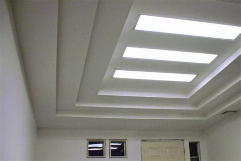 Ceiling Board Installation by Multilevel Suspended Ceiling Of Plasterboard Preparing