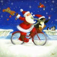 imagenes de santa claus en bicicleta 1000 images about 165 art artist maria woods on