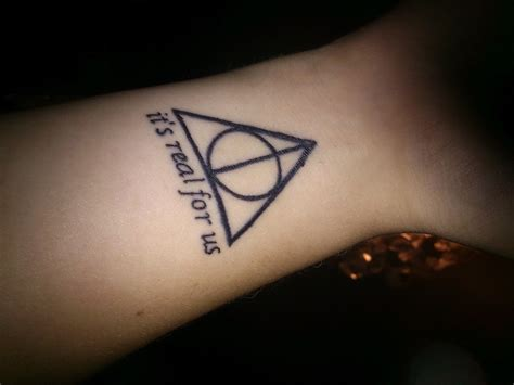small town tattoos harry potter tattoos