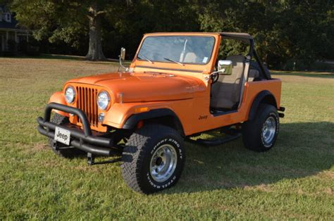 orange jeep cj 1982 jeep cj7 pearl orange chevy v8 interior