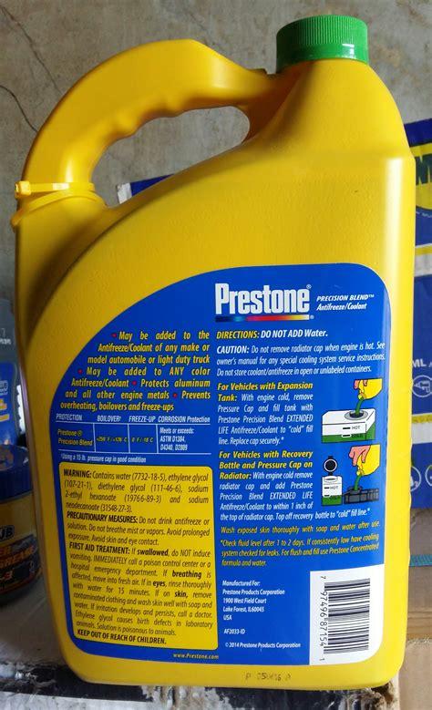 Air Radiator Coolant Prestone Precision Blend Antifreeze 4l Usa 1 Jual Prestone Precision Blend Radiator Coolant Air