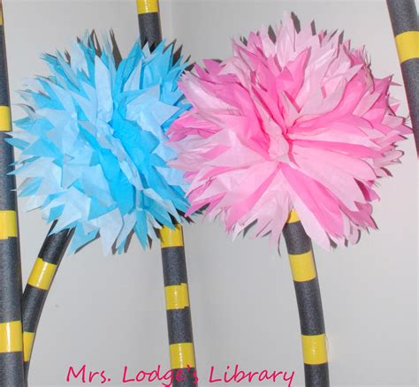 How To Make Lorax Trees Out Of Tissue Paper - mrs lodge s library truffula trees