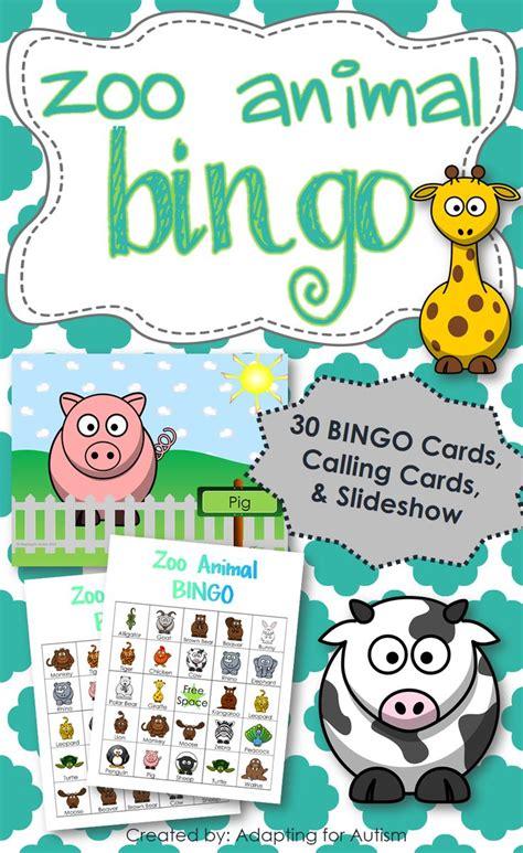 printable zoo animal bingo cards zoo animal bingo includes 30 unique bingo cards 1 2 page