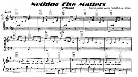 chords nothing else matters nothing else matters ukulele chords