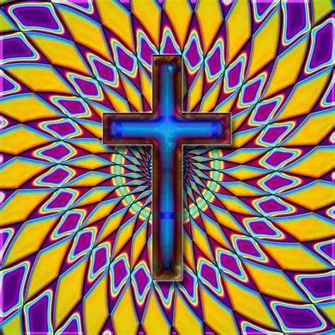 colorful crosses colorful retro cross by david g paul