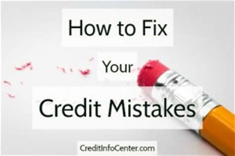 how to fix my credit an easy to follow guide for erasing credit errors and rebuilding your name books how to fix your credit mistakes credit info center