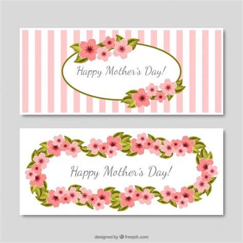 imagenes vintage dia de la madre banners vintage del d 237 a de la madre con rayas y flores