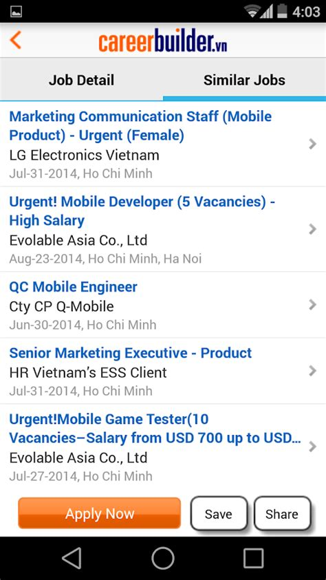 careerbuilder vn search android apps on play
