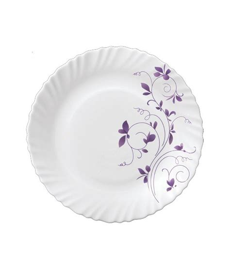 Mrp Home Design Quarter by La Opala Diva Dazzle Purple Dinner Set 21 Pcs Buy Online