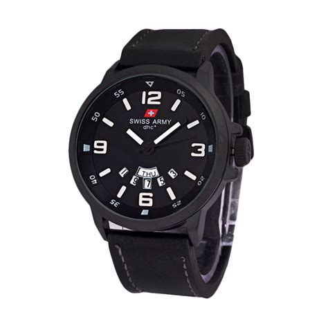Jam Tangan Swiss Army 1128 Black jual swiss army kulit sa 1128 black jam