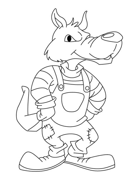 big bad wolf template big bad wolf coloring pages coloring pages