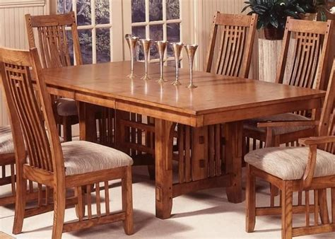 mission style dining room table sets   craftsman