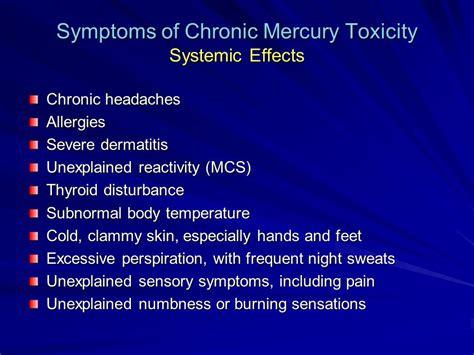 Mercury Detox Symptoms Headache by Chronic Illness And Mercury Toxicity Ppt