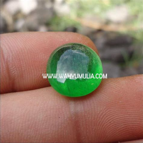 Batu Hijau Green Obsidian batu permata zamrud kalimantan kode 146 wahyu mulia
