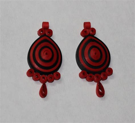 Quilling Paper Earring - papercraftwithaditi quilled earrings