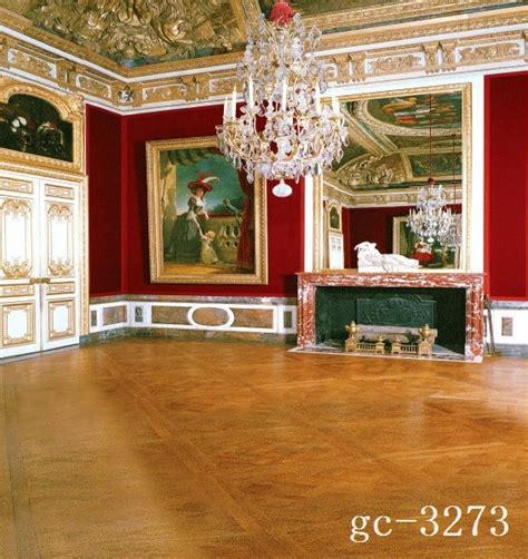 background ruangan 10x10ft vintage louvre museum paintings frame red wall