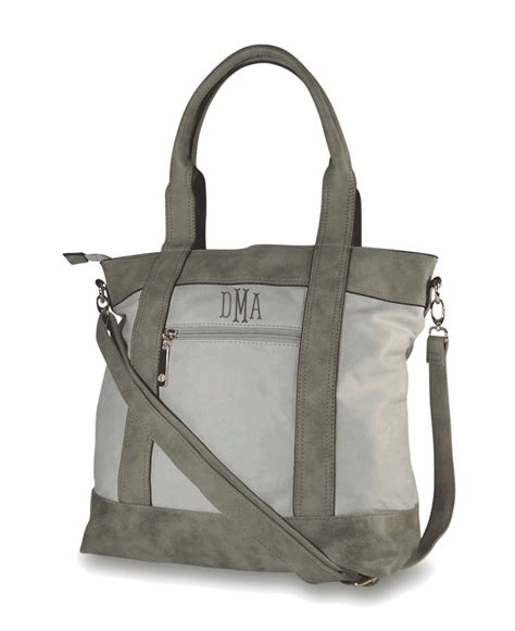 monogram tote handbags faux leather