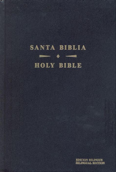 spanish english bilingual bible black bonded leather 1932507035 holman spanish english bilingual bible hardcover indexed gospel publishers