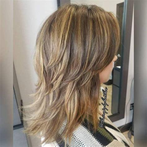 layers with shirt crown hair cut best 25 medium shaggy haircuts ideas on pinterest lob