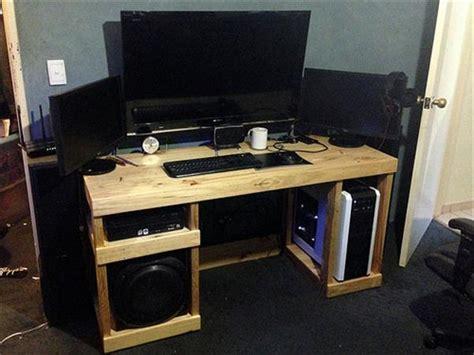 diy computer desk out of pallets 101 pallets