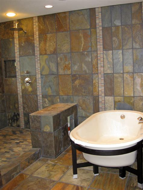 open shower designs nw lodge style open shower in bellevue featured products