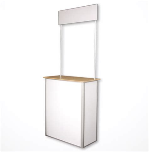 Pop Up Reception Desk Portable Pop Up Table Advertising Reception Counter