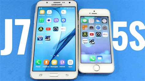 Iphone J7 Samsung Galaxy J7 Vs Iphone 5s