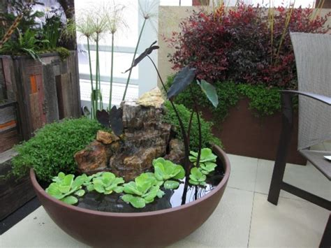 indoor water garden plants amazing ideas of how to make mini ponds in pots page 2 of 2