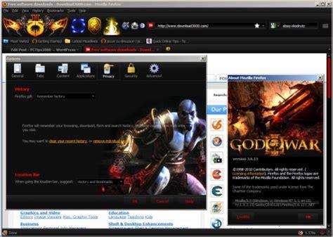 firefox themes video games firefox theme of the week god of war iii