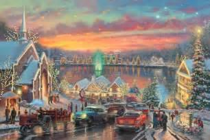 the lights of christmastown the thomas kinkade company