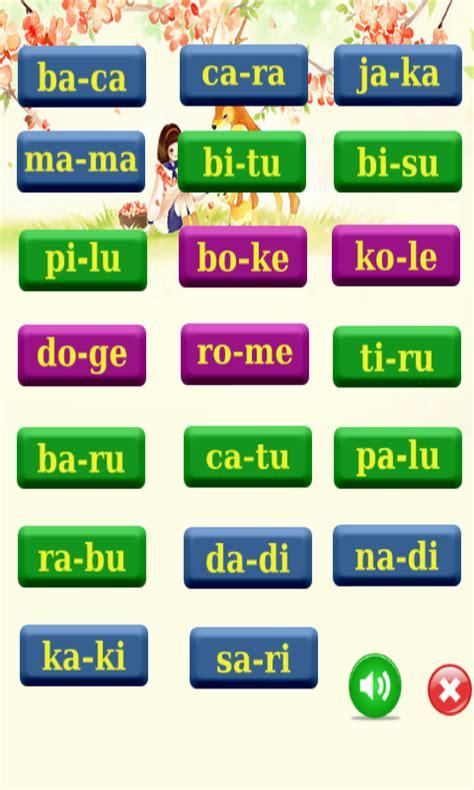 Spelling Belajar Huruf Dan Mengeja belajar membaca apl android di play
