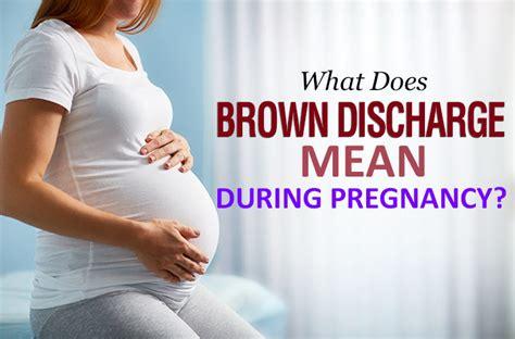 brown discharge