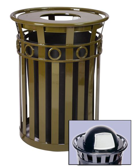 Decorative Recycling Containers For Home by 40 Gallon Oakley Decorative Outdoor Steel Trash Cans