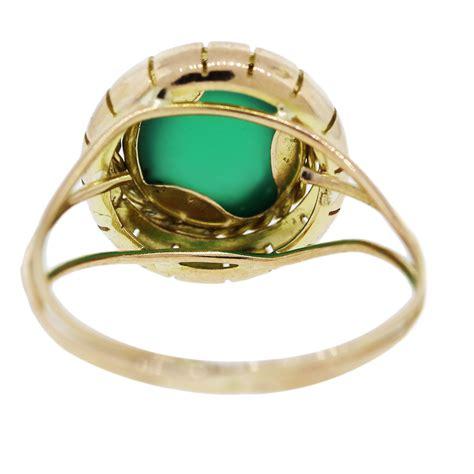 18k yellow gold vintage jade gemstone ring boca raton