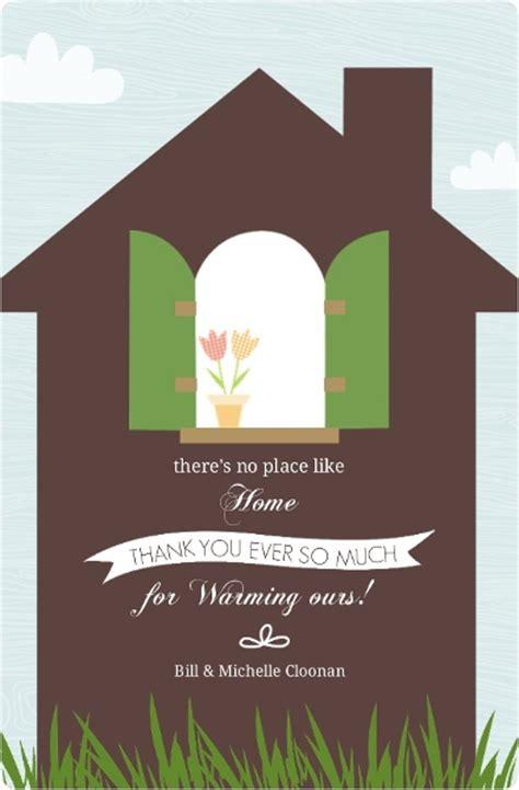housewarming thank you card template brown home window sill housewarming thank you card
