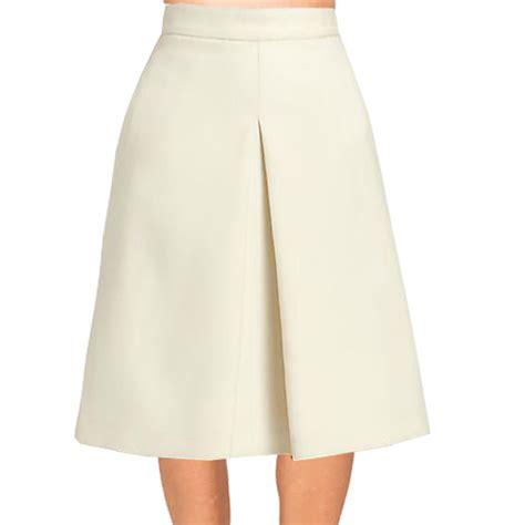 Cream Inverted Pleat A Line Skirt ? Elizabeth's Custom Skirts