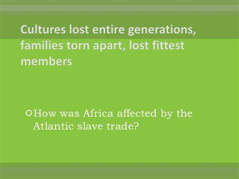 the atlantic slave trade chapter 20 section 3 chapter 20 review