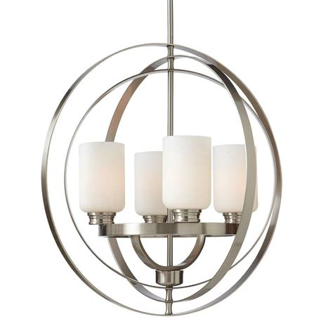 home chandelier home decorators collection 4 light brushed nickel